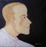 Profil du peintre - 40x40