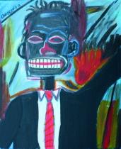 Portrait de Basquiat - 46x35