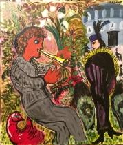 Le joueur de flute-45x38
