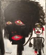 Maryan et Basquiat-45x37
