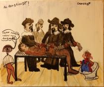 Leçon d'Anatomie, Pas Rembrandt mais Genskof - 46x38