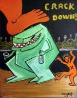 Crack Down - 46x38