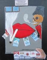 Smoking kills - 20x40