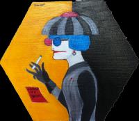 Autoportrait - 30x30