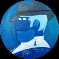 Portrait Monory - 30x30
