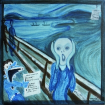 Scream bleu - 30x30