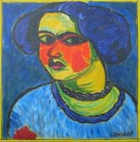Portrait de femme - 40x40