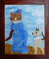 Le chat de Manet - 55x46